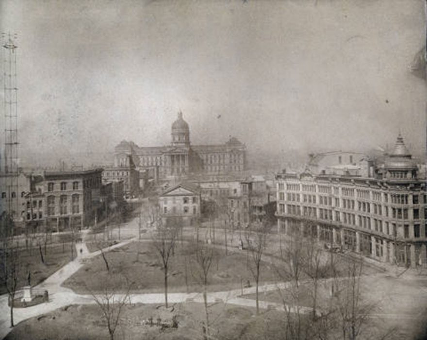 Circle Park Before Construction of the Soldiers and Sailors Monument (Indiana Historical Society, M0098)