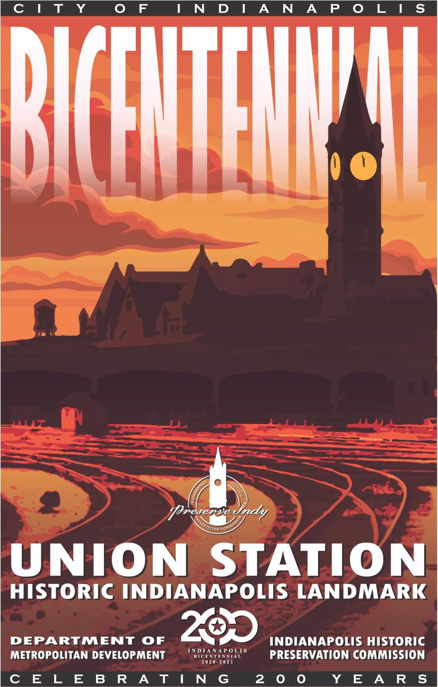 IHPC's Bicentennial Poster designed by Lorie Davis Parker Finch